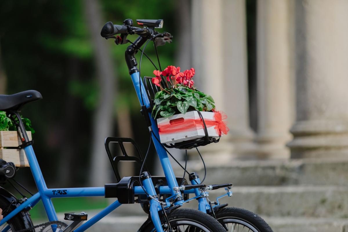 E-Bike mit drei Rädern und Neigetechnik