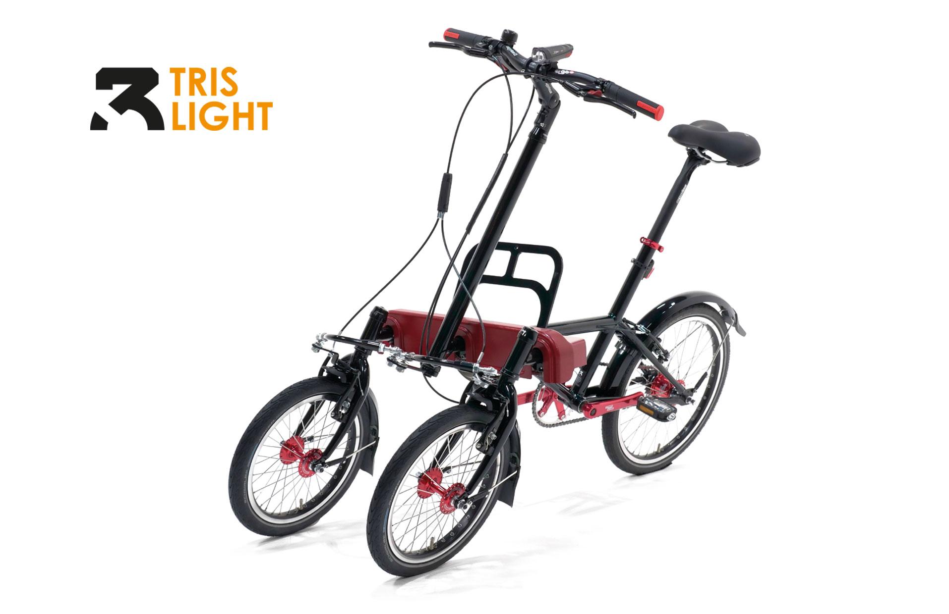 Urban Bike mit drei Rädern und Neigetechnik