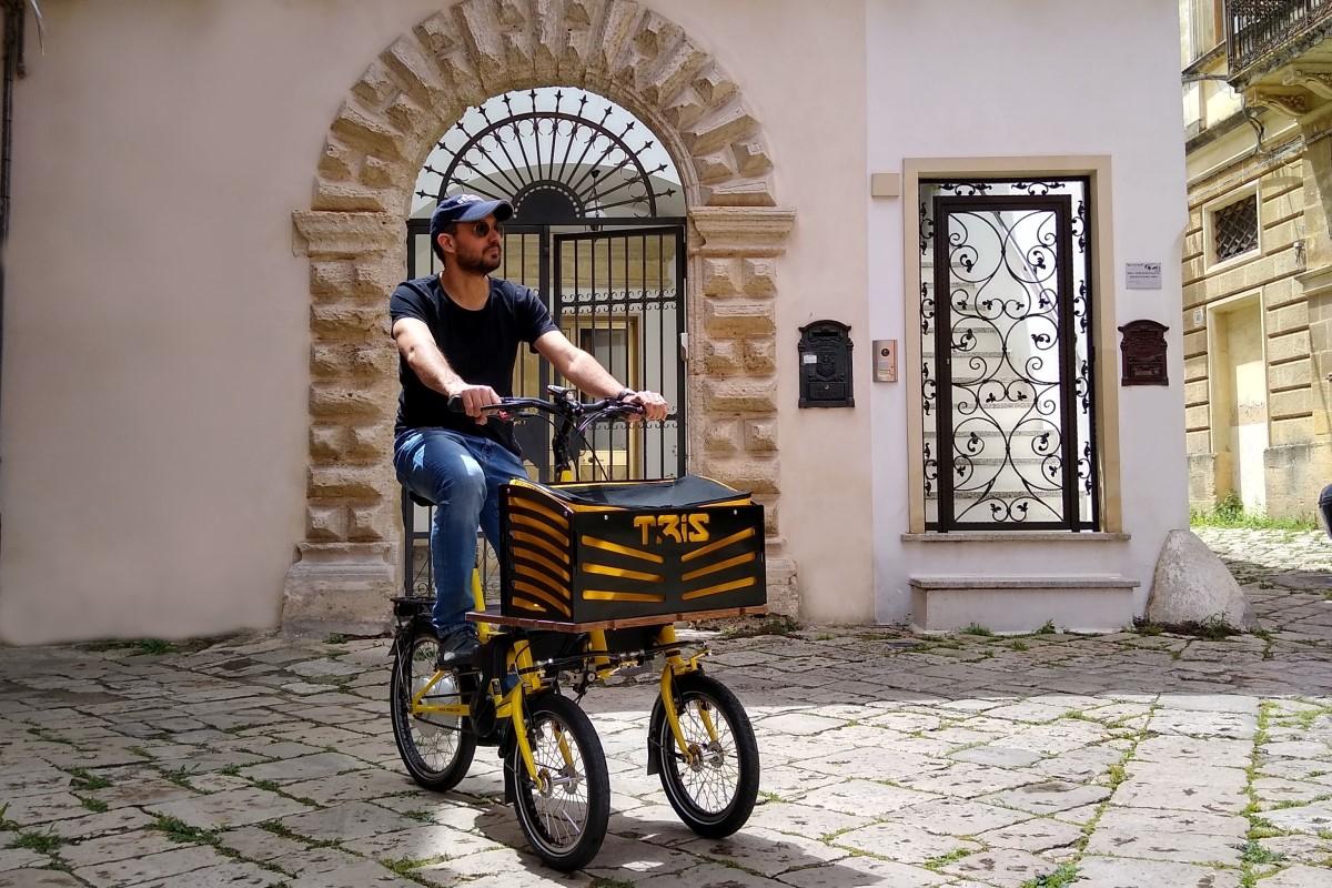 tilting cargo ebike three wheels